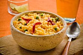 Yellow rice with peas and peppers (Cuba)