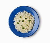 White rice with parsley (Caribbean)