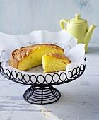 A small juicy lemon cake
