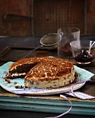 A mini tiramisu cake