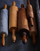 Various different rolling pins