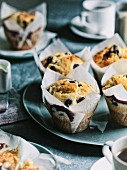 Blueberry and lemon muffins with olive oil