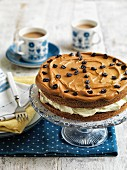 Coffee cake with mocha beans