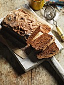 Spiced cake with brown icing