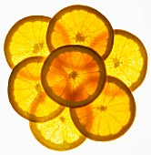Back lit orange slices