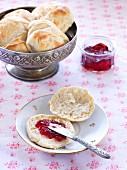 Buttermilk rolls with jam