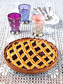 Linzertorte (nut and jam layer cake)