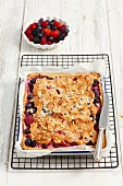 Berry cake with meringue