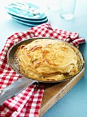 Apple lasagne with quark and mascarpone cream