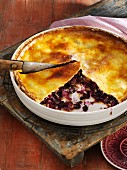 Pineapple and blueberry pie