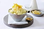 Kartoffel-Pastinaken-Püree mit Zitrone und Knoblauch