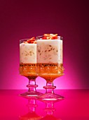 Exotic fruit trifles for Christmas