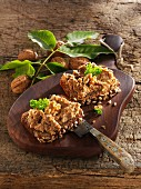 Walnut spread with miso on wholemeal bread