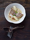 Whitefish with kohlrabi and potato dumplings