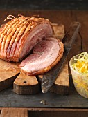 Rustic roast pork with crackling