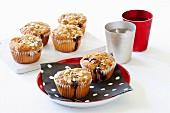 Oaty blueberry cupcakes