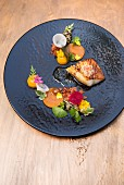 Grilled John Dory with pumpkin, radish and lime ponzu sauce (Japan)