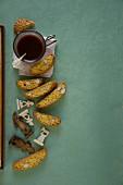 Cantucci e caffè (almond biscuits and espresso, Italy)