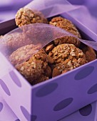 Almond biscuits in a gift box