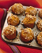 Classic wheat bran muffins with hazelnuts