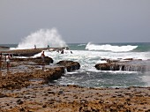 Breakers on the Atlantic coast near Oualidia, Morocco