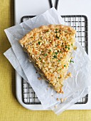 Chicken and leek tart