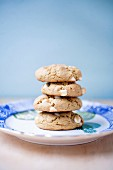 A stack of nut cookies