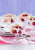 Fruit trifle with popcorn