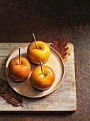Glazed apples