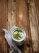 Tzatziki with pepper and fresh herbs