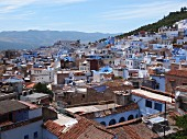 View over the roofs of Chefchaouen, Morocco