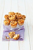 Apple muffins with hazelnuts and cinnamon