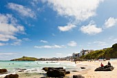 Porthmeor Beach in St. Ives (Cornwall, England)