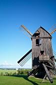 The post windmill of Pudagla on the Lieper Winkel peninsula of Usedom