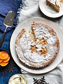 Spiced almond tart