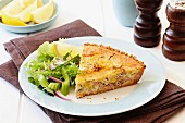 Easy tuna and zucchini quiche
