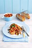 Toast mit Tomaten-Cannellini