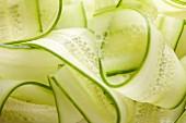 Cucumber strips (close-up)