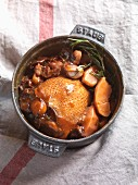 Braised pigeon with quince