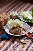 Spicy pork collar salad (Thailand)
