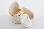 Three straw mushroom