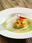 Bay leaf soup with pineapple