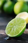 Half a lime (close-up)