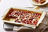 Mixed berry sour cream slice