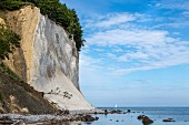 A view of the chalk cliffs at the Jasmund National Park on Rügen