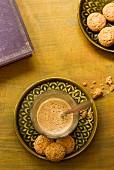 Amaretti e caffè (almond biscuits and espresso, Italy)