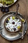 Grape salad with yoghurt
