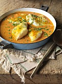 Creamy tomato fish curry (India)