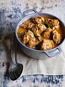 Spicy Andhra chicken curry (India)