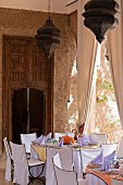 Beldi Country Club, Hotel complex on the outskirts of Marrakesh, Morocco, restaurant